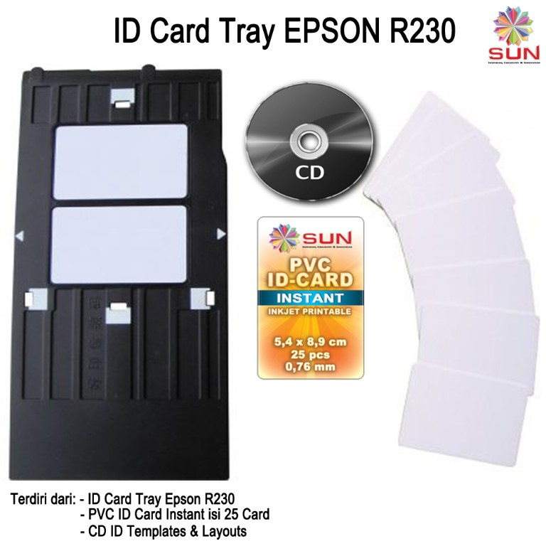 ID Card Tray R230 + PVC isi 25