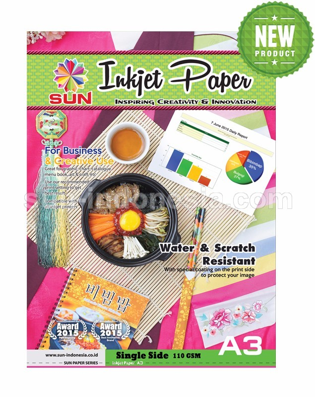 SUN Next Generation INKJET PAPER A3 110 Gsm - Single Side