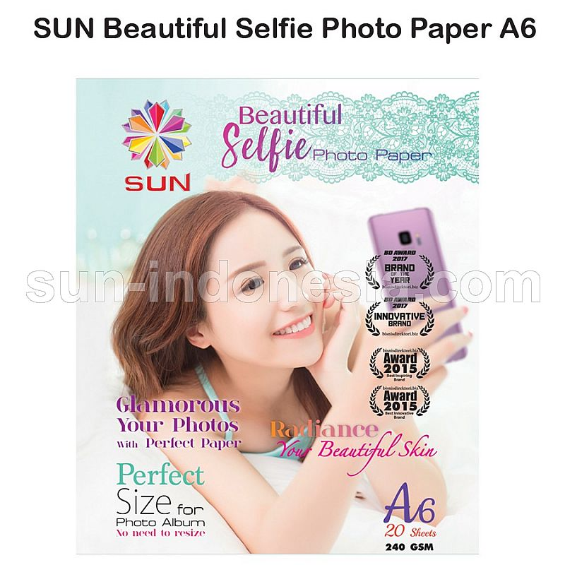 SUN Beatutiful Selfie Photo Paper 240 A6