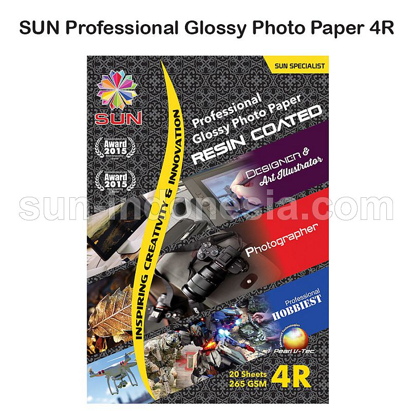 SUN PROFESSIONAL GLOSSY PHOTO PAPER 265 GSM 4R (RESIN COATED)