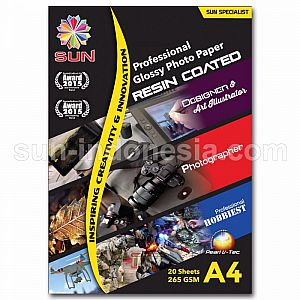 SUN Professional Glossy Photo Paper 265 Gsm A4