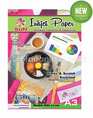 SUN Next Generation INKJET PAPER A3 235 Gsm - Double Side