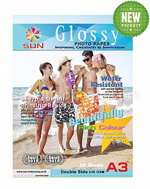 SUN NEXT GENERATION GLOSSY PHOTO PAPER A3 240 Gsm - DOUBLE SIDE