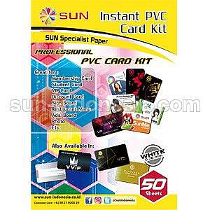 SUN PVC ID Card 0.76 White (Isi 50 set)