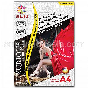 SUN PROFESSIONAL SILK PHOTO PAPER 265 GSM A4 - PEARL TEXTURE