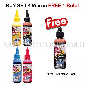SUN SUBLIME MAX INK 100 ML 1 SET 4 WARNA Free BLACK