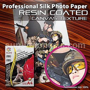 SUN Professional Silk Photo Paper 265 A6 CANVAS Texture