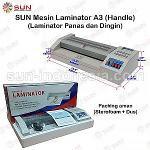 Mesin Laminating LAMINATOR + Handle A3 ( Merah )